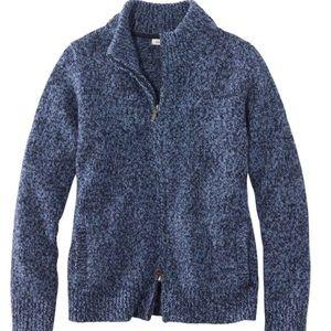 Rag Wool Sweater Zip Cardigan